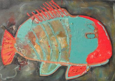 'Brainy Fish', oil on Canvas, 2010 -2011