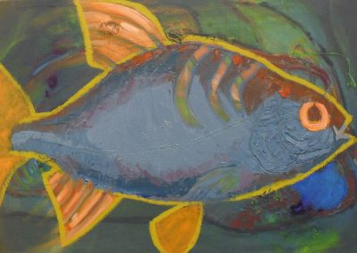 'Fish In The Cave', oil on Canvas, 2010 -2011