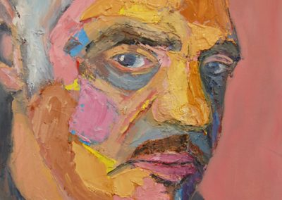 John Cullen_self portrait, oil on canvas, 2014