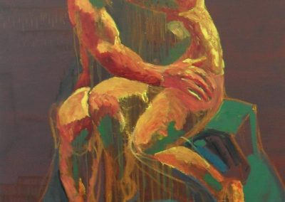 'The Kiss (after Rodin)', oil on linen, 132cm x 114cm, 2012